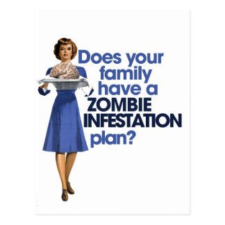 Plan d'infestation de zombi carte postale