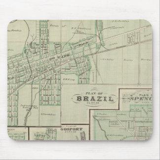 Plan du Brésil, argile Co avec Bowling Green Tapis De Souris