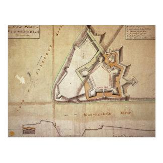 Plan du nouveau fort à Pittsburgh Carte Postale