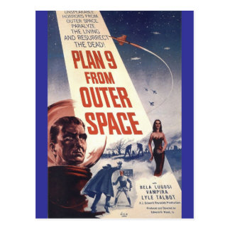 """Plan neuf d'espace extra-atmosphérique """" carte postale"""