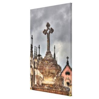 Plan rapproché croisé de cimetière, Portugal Toile