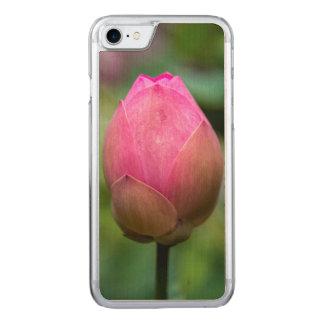 Plan rapproché de bourgeon floral de lotus, Bali Coque En Bois iPhone 7