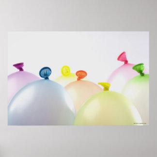 Plan rapproché des ballons posters
