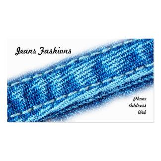Plan rapproché des jeans et du tissu de denim cartes de visite professionnelles