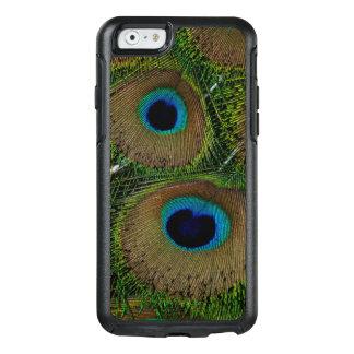 Plan rapproché des plumes de paon coque OtterBox iPhone 6/6s