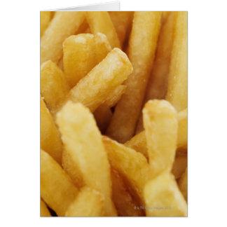 Plan rapproché des pommes frites carte de vœux