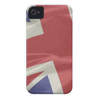 Plan rapproché en soie de drapeau d'Union Jack Coques iPhone 4 Case-Mate