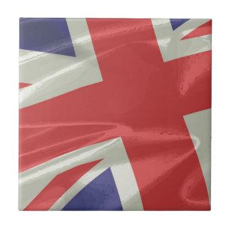 Plan rapproché en soie de drapeau d'Union Jack Petit Carreau Carré