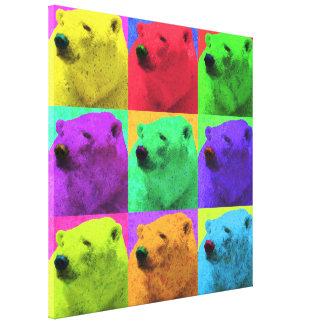 Plan rapproché grunge d'ours blanc de Popart d'art Toiles
