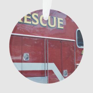 Plan rapproché rouge d'ambulance