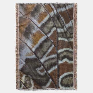 Plan rapproché tropical de papillon de Brown Couvre Pied De Lit