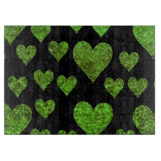 Planche À Découper Amour, Romance, coeurs, parties scintillantes -