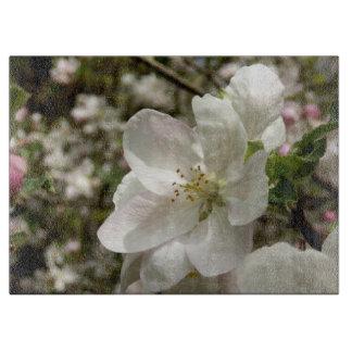 Planche À Découper Apple fleurissent hachoir de verre décoratif