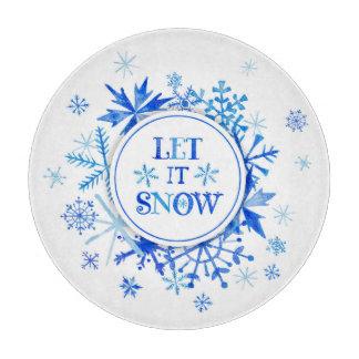 Planche À Découper Aquarelle de Noël | - laissez-la neiger des