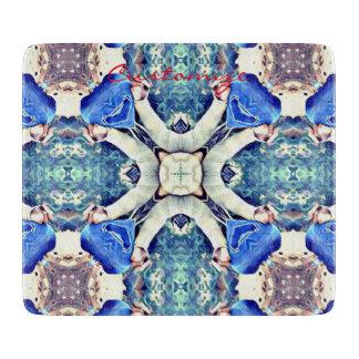 Planche À Découper bleu de motif de coeurs de mandala