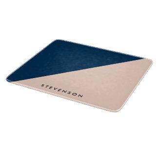 Planche À Découper bloc en pastel moderne élégant de couleur de bleu