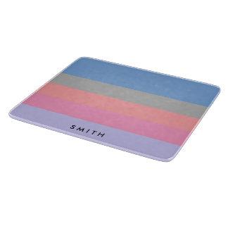 Planche À Découper bloc pourpre bleu gris de corail de couleur de