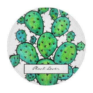 Planche À Découper Cactus épineux d'aquarelle magnifique