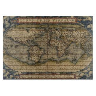 Planche À Découper Carte antique du monde