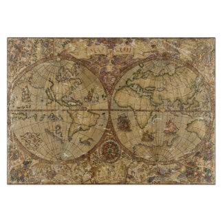 Planche À Découper Carte vintage du monde
