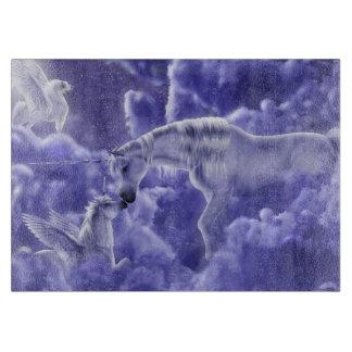 Planche À Découper Ciel nocturne magique et mystique de licornes