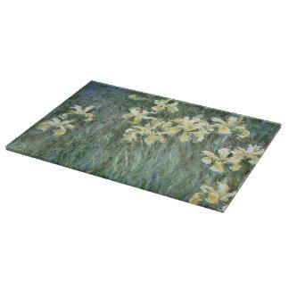 Planche À Découper Claude Monet | les iris jaunes