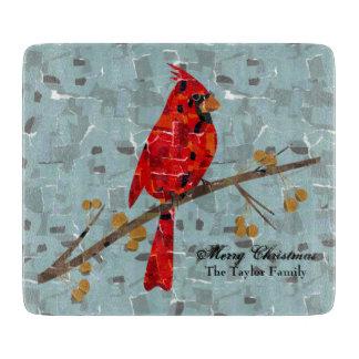 Planche À Découper Collage cardinal d'oiseau de Noël