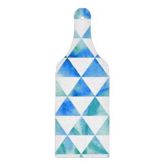 Planche À Découper Conception bleue de triangle d'aquarelle