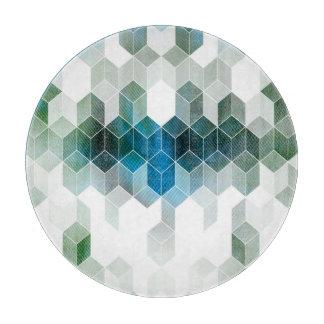 Planche À Découper Conception graphique de cube bleu génial