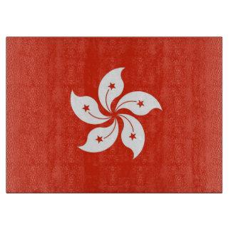 Planche À Découper Conseil de taille du verre avec le drapeau de Hong