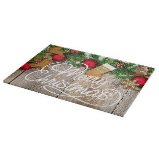 Planche À Découper Conseil de taille du verre de biscuit de Noël
