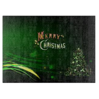 Planche À Découper Conseil de taille du verre de Noël/arbre de Noël
