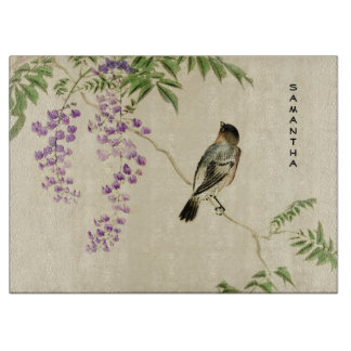 Planche À Découper Conseil lilas vintage japonais de taille du verre