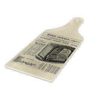 Planche À Découper Conseil vintage de taille du verre de graine