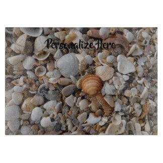 Planche À Découper Coquillages au bord de la mer