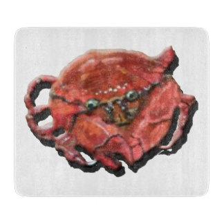 """Planche À Découper Crabe - conseil décoratif de taille du verre 7,5"""""""