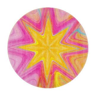 Planche à découper de fractale d'éclat d'étoile