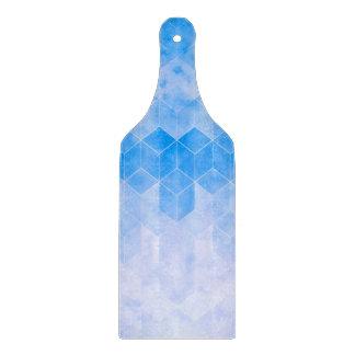 Planche À Découper Dessin géométrique de cube bleu