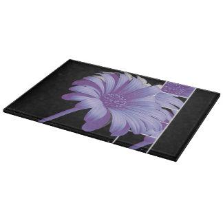 Planche à découper en verre Floral