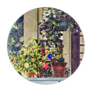 Planche À Découper Fleurs sur le porche