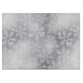 Planche À Découper Flocons de neige et lumières
