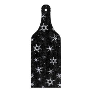 Planche À Découper Flocons de neige noirs