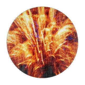 Planche À Découper Hachoir en verre de feu d'artifice