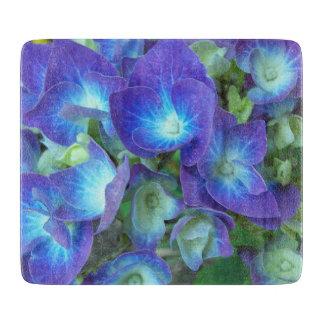 Planche À Découper Hortensias bleus floraux