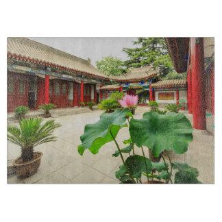 Planche À Découper Intérieur de pagoda de la Chine