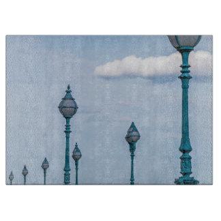 Planche À Découper Lampadaires bleus en verre