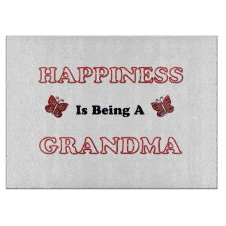 Planche À Découper Le bonheur est une grand-maman