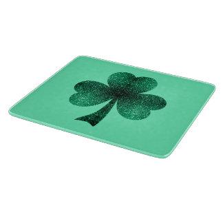 Planche À Découper Le vert vert miroite turquoise de trèfle de