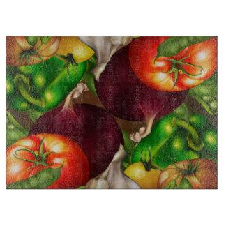 Planche À Découper Légumes et nourriture fraîche naturelle organique