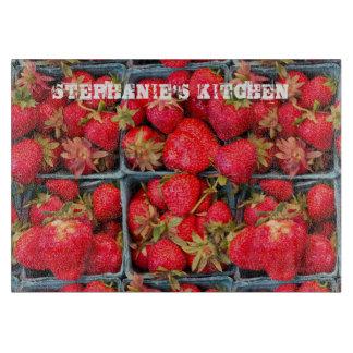 Planche À Découper Les fraises fraîches ajoutent le nom